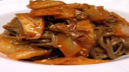 Korean Food Buckwheat Kimchi Noodles