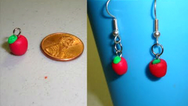 How To Make Red Delicious Apple Polymer Clay Earrings