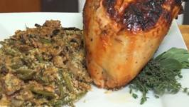 Cider Brined Holiday Turkey with Pan Gravy and Wild Mushroom