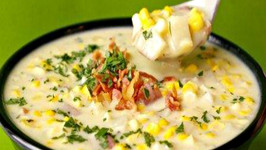 Hearty Potato Celery Corn Chowder