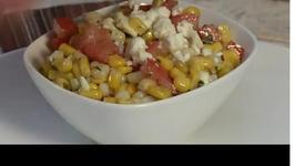 Easy Chimichurri Steak with Corn Salad