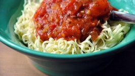 Linda's Spaghetti Sauce with Red Peppers
