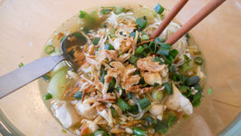 Egg Noodle Soup with Chicken and Bok Choy