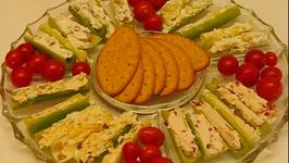 Easy to Make Stuffed Celery Relish Platter