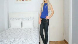 Outfit Of The Day: Black & Blue (Peplum Top)