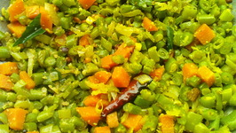 Colourful Beans Carrot Saute