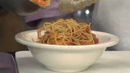 Healthy Eggplant Pomodoro with Whole Wheat Angel Hair Pasta