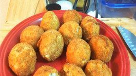 Homemade Crawfish Boudin Balls