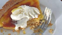 Lemon Tart with Vanilla Whipped Cream - Great for Easter