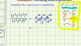 Ex 3:  Simplify Exponential Expressions - Positive Exponents Only