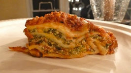 Special Two Cheese Spinach Lasagna