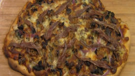 How To Make Pizza: Thin Crust Walnut With Mushrooms Spinach And Gorgonzola Cheese