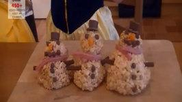 Rice Krispy Snowmen