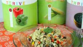 Black Beans Salad with Rice and Vegetables