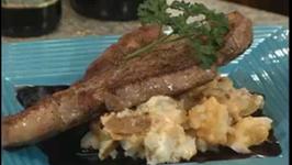 Steak Au Poivre with Balsamic Sauce