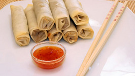Beef Lumpia With Red Wine