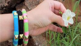 Fashion DIY: Pyramid Stud Bracelet