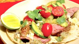 Flank Steak Taco with Salsa Verde