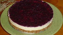 Raw Lemon and Berry Cheesecake