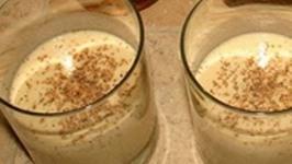 Homemade Bourbon Eggnog