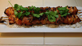Honey Lime Chicken Skewers on the Weber Kettle