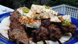 Greek Lamb Kebabs - Greek Lamb Souvlaki With Marinated Feta Cheese