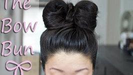 Simple Bow Bun Tutorial