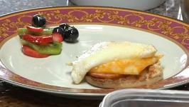 Eggs Benedict with Fruit Salad