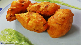 Monsoon Delight - Moong Dal Pakoda (Split Green Gram Fritter)
