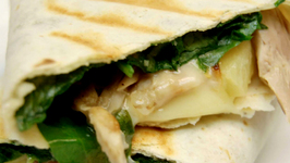 Chicken Mushroom Spinach Quesadilla