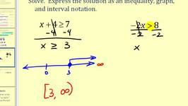Solving One-Step Linear Inequalities in One Variable