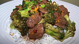 Orange Beef with Broccoli Stir Fry