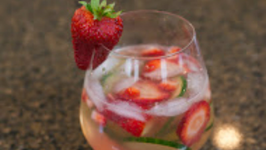 Sunset Cucumber Strawberry Caipirinha