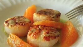 Seared Scallops With Orange Supremes And Jalapeno Vinaigrette