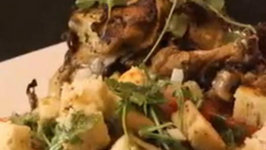 Lemon and Herb Marinated Flattened Chicken with Panzanella Salad