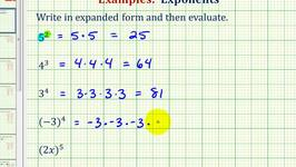 Ex:  Expanding and Evaluating Exponential Notation