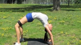 Fun with Yoga Inversions - Headstand - Shoulder Stand - Stretch - Resistance Bands