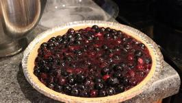 Microwave Cooked Blueberry Pie