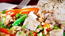 Saucy Tofu and Turkey Stir Fry
