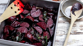 Chocolate & Balsamic Roasted Red Beets