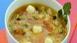 Potato Zucchini and Tomato Soup by Tarla Dalal