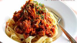 Fettuccini Bolognese for Aaron