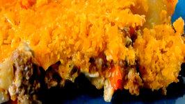 Cheesy Taco Potato Bake - Super Bowl
