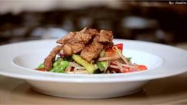 Juicy Beef Steak topped Thai Salad