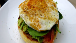 Spicy Avocado and Salmon Toasted Muffins