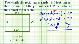 Ex: Find the Area of a Rectangle Given the Perimeter