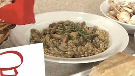 Barley Pilaf With Mushrooms And Walnuts