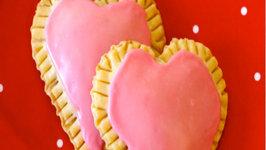 Valentines Raspberry Cream Cheese Heart Tarts
