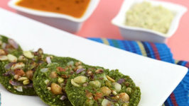 Oats Palak and Sprouts Mini Uttapa (Multi-Nutrient for Pregnancy) by Tarla Dalal