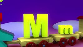 Letter M Song 3D Animation Learning English Alphabet ABC Songs